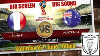 World Cup Australia vs France game at Clubhouse