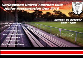 Junior Presentation Day Sunday 28th October
