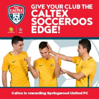 Springwood United FC has signed up to the Caltex Rewards program.